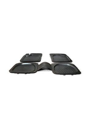 3D Şimşek Havuzlu Paspas Siyah 5 Parça Üniversal Tüm Araçlar Için Uyumlu 2