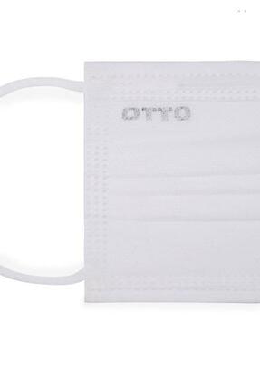 Otto Meltblown Filtreli, Yassı Ve Yumuşak Lastikli 3 Katlı Telli Medikal Maske/beyaz (50 ADET) 2