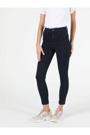 Colin's 760 Dıana Super Slim Fit Yüksek Bel Skinny Leg Kadın Koyu Indigo Jean Pantolon 0