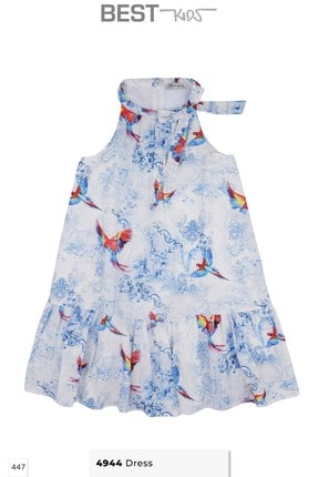 Kız Çocuk Emprime Elbise 4944 ST4944