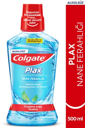 Colgate Plax Nane Ferahlığı Plağa Karşı Alkolsüz Ağız Bakım Suyu 500 ml 0