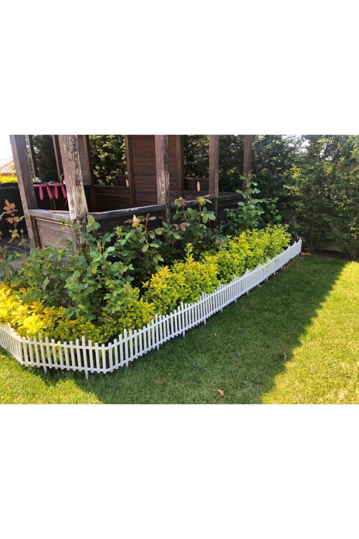 Beyaz Bahçe Çiti Dekoratif Plastik Bahçe Çiti Peyzaj Koruma Paneli Beyaz