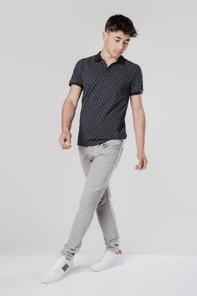 Erkek Açık Gri Slim Fit Jean Pantolon DHEAGRİKOT12345