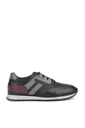 Ziya , Erkek Hakiki Deri Sneaker 111415 396053 Sıyah 0