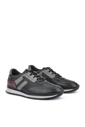 Ziya , Erkek Hakiki Deri Sneaker 111415 396053 Sıyah 1