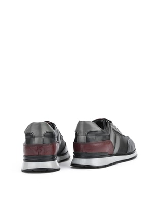 Ziya , Erkek Hakiki Deri Sneaker 111415 396053 Sıyah 2