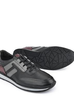 Ziya , Erkek Hakiki Deri Sneaker 111415 396053 Sıyah 3