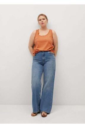 Mango Kadın Turuncu Kalın Askılı Bluz 1
