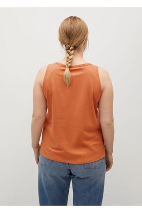 Mango Kadın Turuncu Kalın Askılı Bluz 3