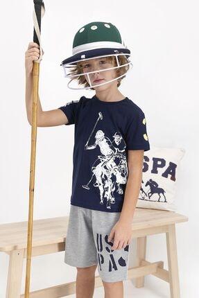 US Polo Assn Erkek Çocuk Lacivert Şort Takım 1