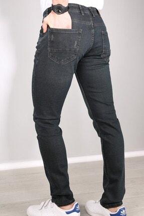 Delpino Erkek Gri Slimfit Likralı Kot Pantolon 3
