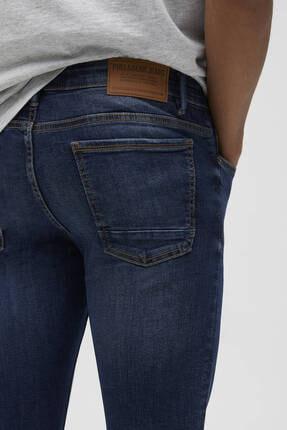 Pull & Bear Erkek Mavi Süper Skinny Fit Jean 1