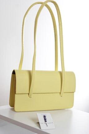 Loventa Loxxa Iki Saplı Sarı Kadın Baguette Çanta 1