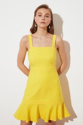 TRENDYOLMİLLA Sarı Askılı Elbise TWOSS20EL2504 2