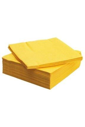 Servis Peçete Meridyendukkan 40x40 Cm 50 Adet Sarı Renkli Peçete Sarı peçete