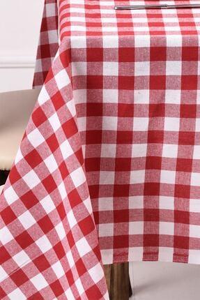 ikiparça Kırmızı Büyük Kare Desen Pötikareli Masa Örtüsü, Sofra Bezi, Piknik Örtüsü 0