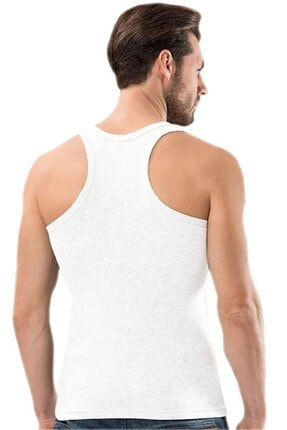 Picture of Erkek Beyaz Pamuk Likra Ribana Sporcu Body Atleti 6'lı