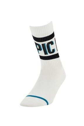 Defacto Desenli Kutulu 5'li Soket Çorap 4