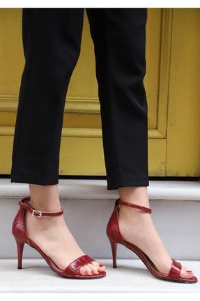 Kırmızı Kadın Topuklu Ayakkabı KLASB10