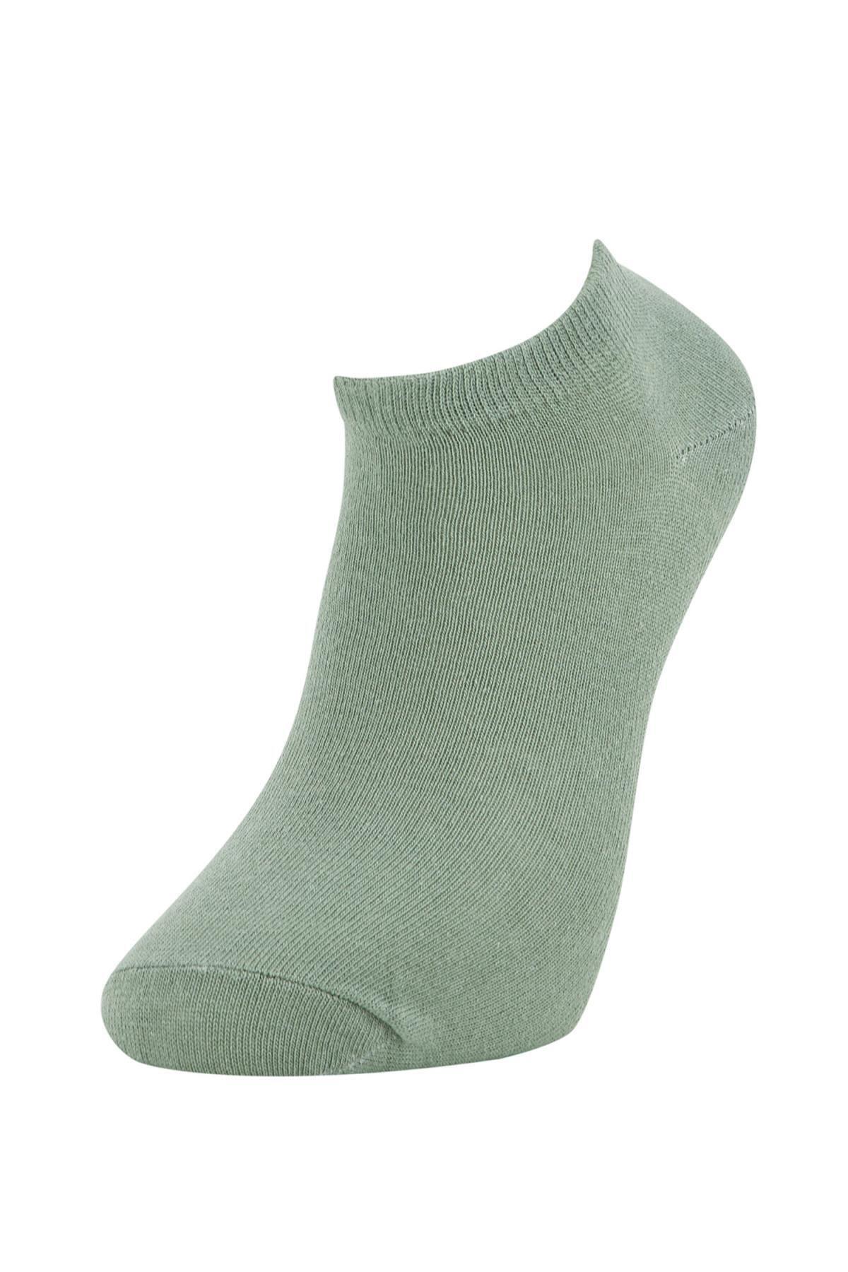 Defacto Erkek Yeşil 3'lü Patik Çorap 3