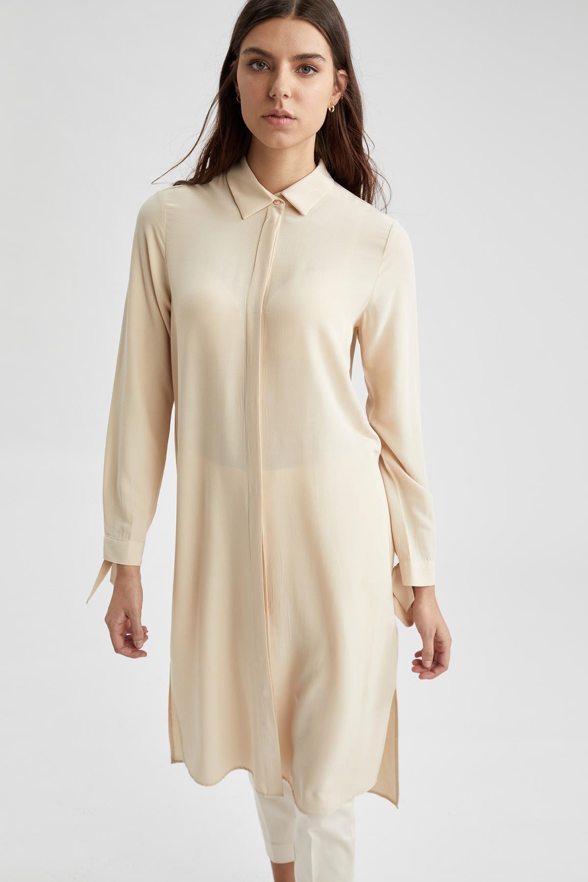 Defacto Regular Fit Uzun Gömlek Tunik 4