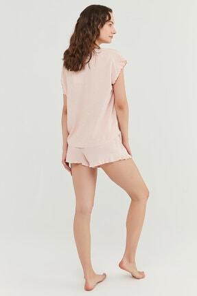 Penti Kadın Somon Gorgeous Gömlek Şort Takımı 4