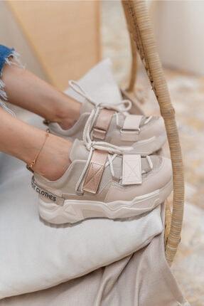 ANGELİNA JONES Kadın Nude Multi Sneakaers 0