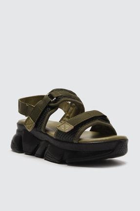 TRENDYOLMİLLA Haki Kadın Sandalet TAKSS21SD0024 4