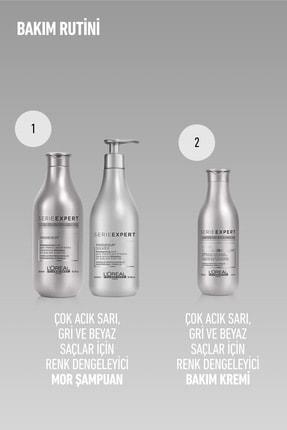 L'oreal Professionnel Serie Expert Silver Çok Açık Sarı Gri Ve Beyaz Saçlar İçin Renk Dengeleyici Mor Şampuanı 300 ml 3