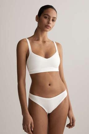 Oysho Kadın Beyaz Çıkarılabilir Cuplı Pamuklu Comfort Top 1