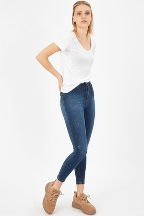Arma Life Kadın Çağla Tint Taşlanmış Lazerli Yüksek Bel Likralı Pantolon 1