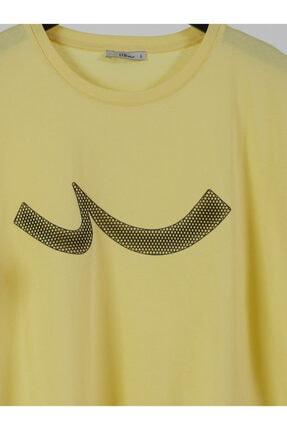 Ltb Erkek  Sarı  Baskılı  Kısa Kol Bisiklet Yaka T-Shirt 012208415960890000 2