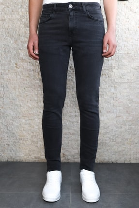 Collezione Collezıone Jeffrey Taşlamalı Slim Fit Antrasit Kot Pantolon 1