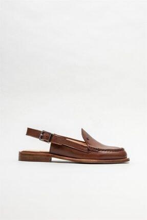 Elle Kadın Taba Deri Düz Ayakkabı 0