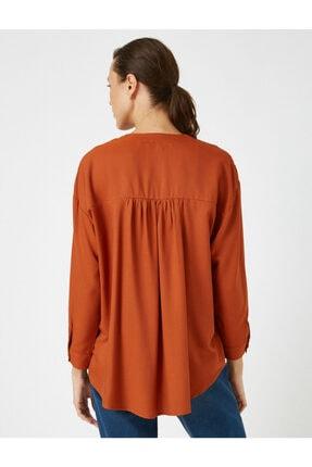 Koton Kadın V Yaka Uzun Kollu Bluz 3