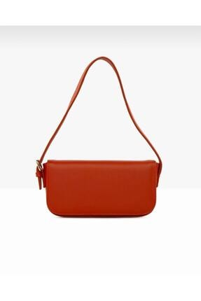 bag&more Kadın Kırmızı Kapaklı Baget Omuz Çantası 0