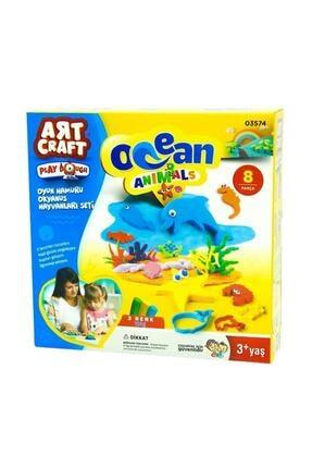 DEDE Oyun Hamuru Okyanus Hayvanları Seti 0
