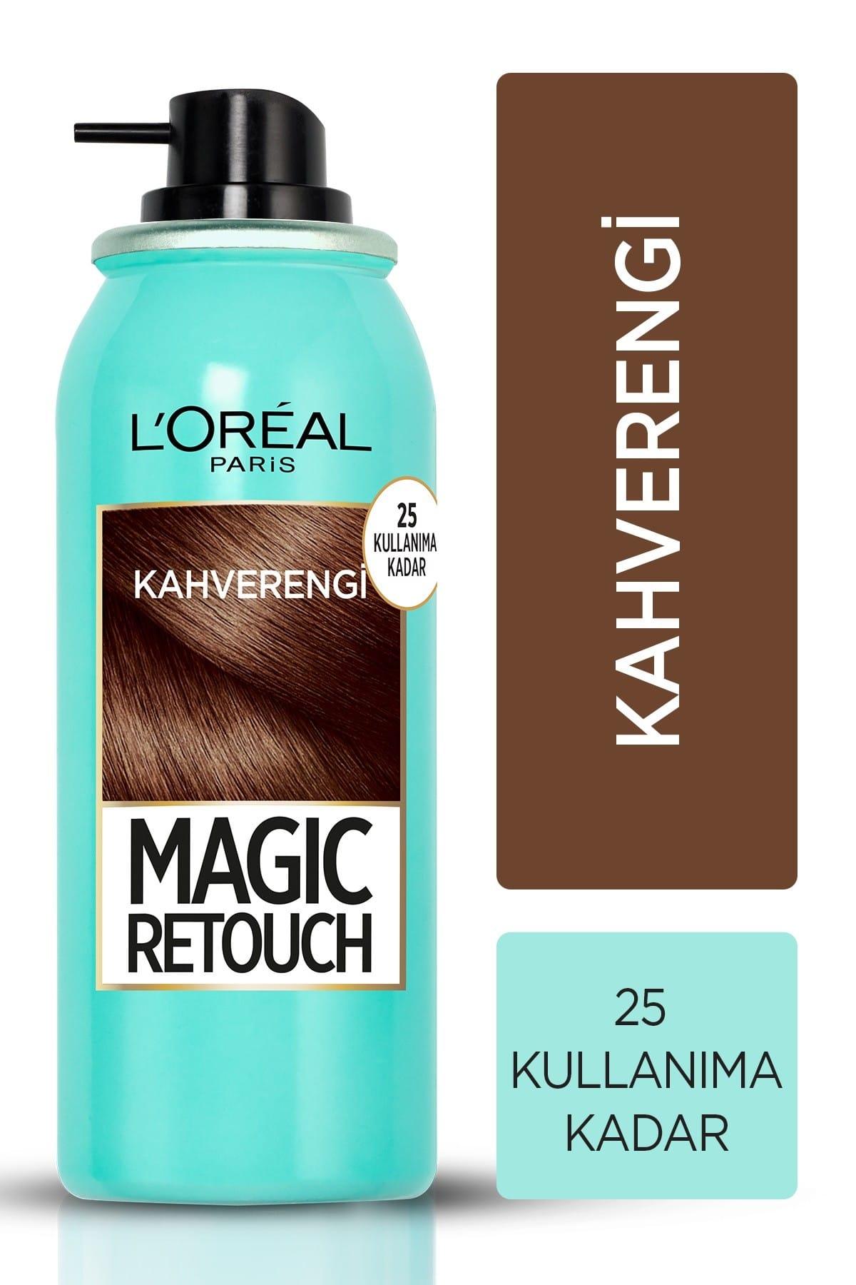 Beyaz Saçlar için Kapatıcı Kahverengi Saç Spreyi 75 ml
