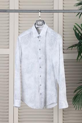 Baskılı Dokuma Uzun Kollu Gömlek - KP10106179 resmi