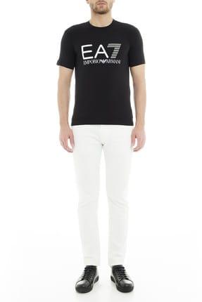 EA7 Erkek Siyah  T-Shirt 4