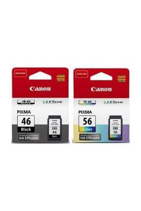 Canon Pıxma E464 Yazıcı Kartuşu Pg-46 Cl-56 Orijinal Mürekkep Kartuş 0