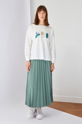 Trendyol Modest Yeşil Baskılı Bluz Etek Alt-Üst Takım TCTSS21AU0280 0