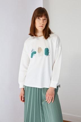 Trendyol Modest Yeşil Baskılı Bluz Etek Alt-Üst Takım TCTSS21AU0280 1