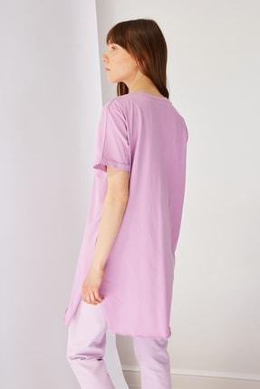 Trendyol Modest Lila Basic Tunik T-shirt TCTSS21TN0056 2