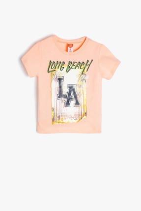 Koton Turuncu Erkek Bebek Yazılı Baskılı T-Shirt 1