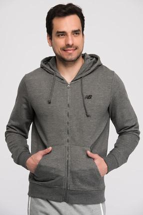 New Balance Erkek Sweatshirt - V-MTJ805-CHC 0