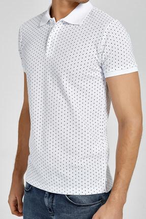 Ltb Erkek  Beyaz Polo Yaka T-Shirt 012188434161430000 3