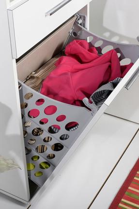 Adore Mobilya Diamond Çamaşır Sepetli Kapaklı ve Çekmeceli Çok Amaçlı Dolap MDL-521-PP-1 4