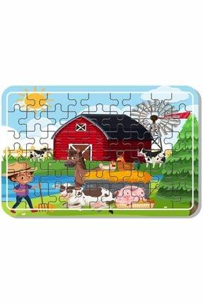 Baskı Atölyesi Çiftlik Hayvanları, Deniz, Tatil, Deniz Canlıları, Yılbaşı, Kardan Adam 54 Parça Ahşap Puzzle 1