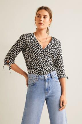Mango Kadın Siyah Çiçekli Bluz 43035822 3